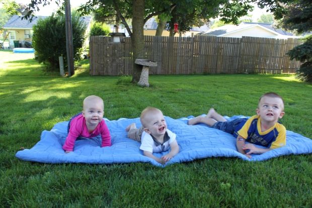 It's hard work trying to get these 3 to sit still and smile at the same time!