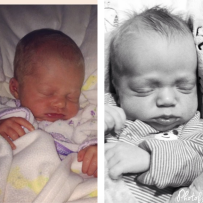 Makenzie on left, Brady on right. They aren't related at all... :)